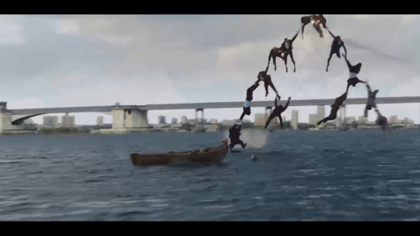 iron man 3 airplane scene