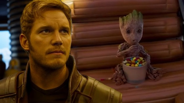 starlord and groot
